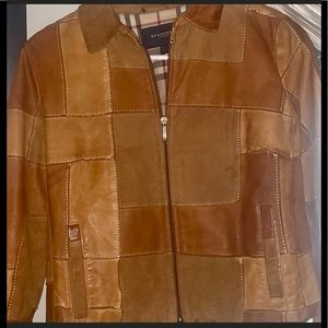 🌸🕰Burberry authentic Leather/suede Jacket sz.6